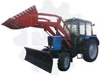 Бульдозер погрузчик ПФН-0,38М (трактор Беларус с ковшом или отвалом снегоуборочным)