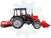 Коммунальный трактор погрузчик снега со щеткой и отвалом ПФС-0,75Б-1 /  ПФС-0,75БКУ-1