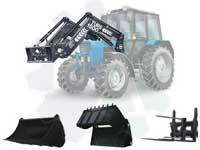 Погрузочное оборудование для мтз 82/952/1025 быстросъемное ТУРС-1500 (1,5т.) есть челюстной ковш и вилочный захват