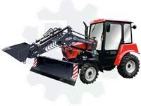 Мини трактор погрузчик мтз 320 коммунальный П320-0А (ковш/отвал/вилочный захват)